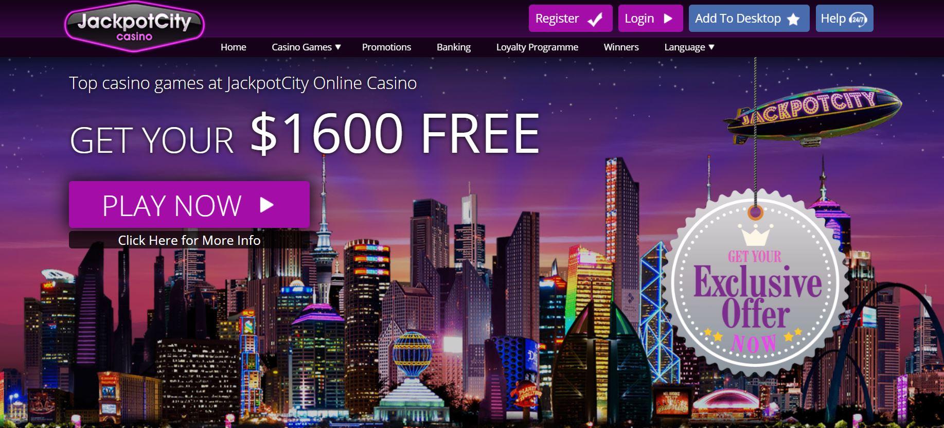 Обзор Джекпот Сити казино онлайн